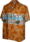 212-3749 ORANGE Pacific Legend Boys Border Shirt